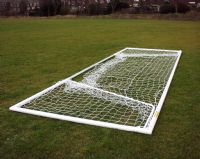 16 x 7 FOLDING MOVABLE GOALS - ALUMINIUM ELLIPTICAL - WITHOUT REAR GROUND FRAME - PAIR OF GOALS